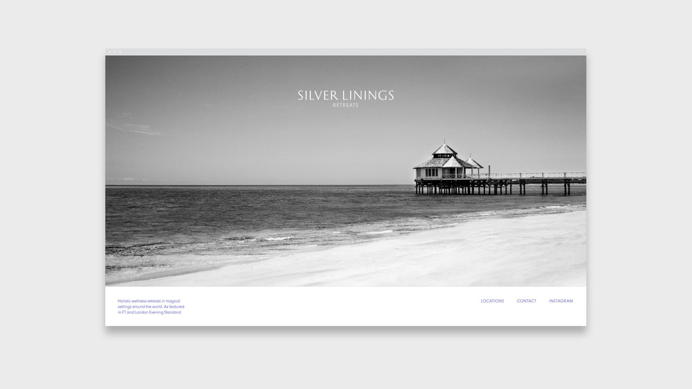 Silver Linings Retreats: brand identity