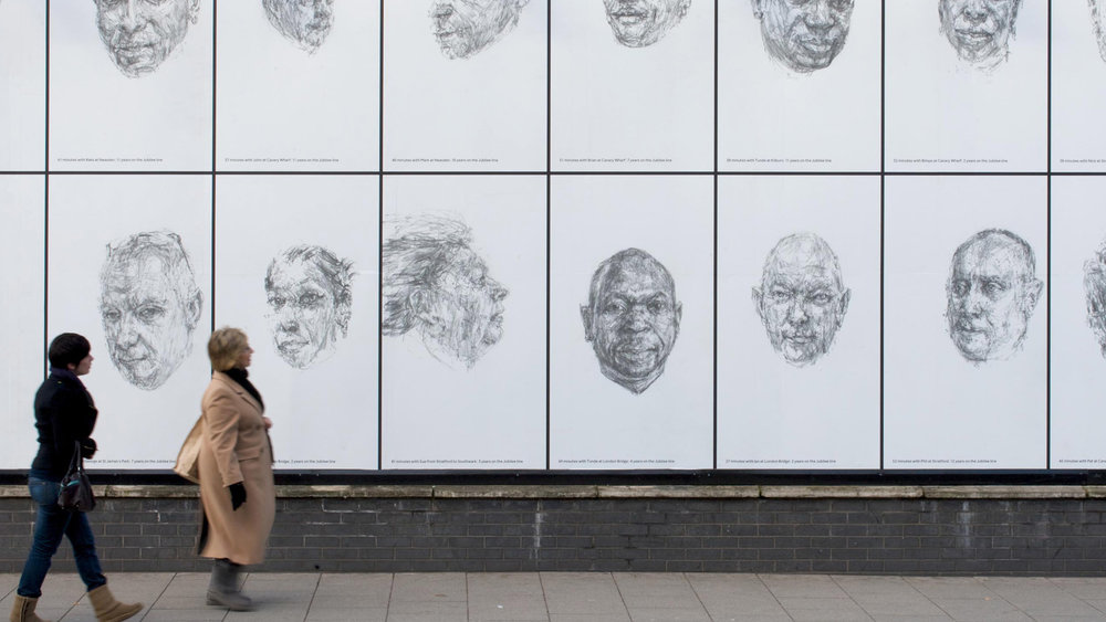 Art on the Underground: Dryden Goodwin's Linear collaboration