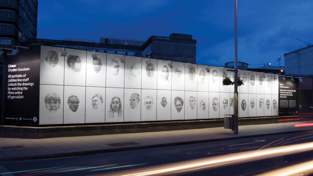 Art on the Underground: Dryden Goodwin's Linear campaign