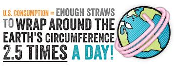USA straws consumption
