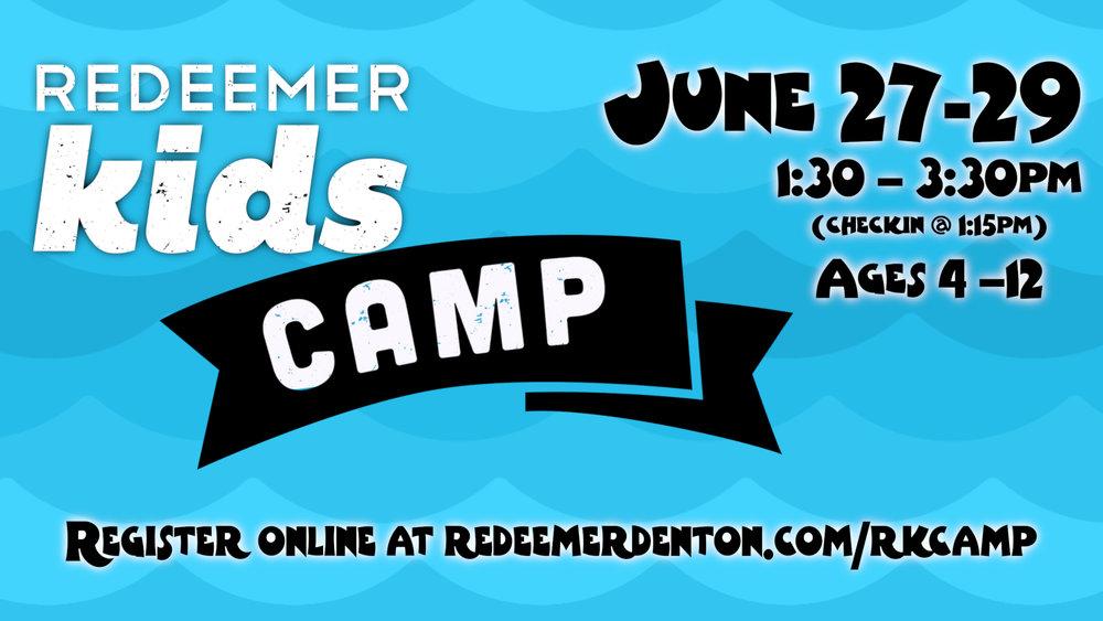 rk camp promo card