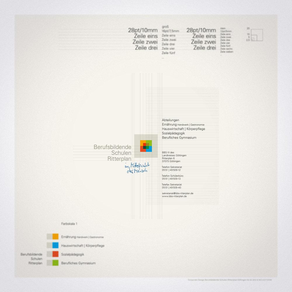 Wort-Bildmarke - Farb-, Größen- und Positionssystematik im typografischen Kontext