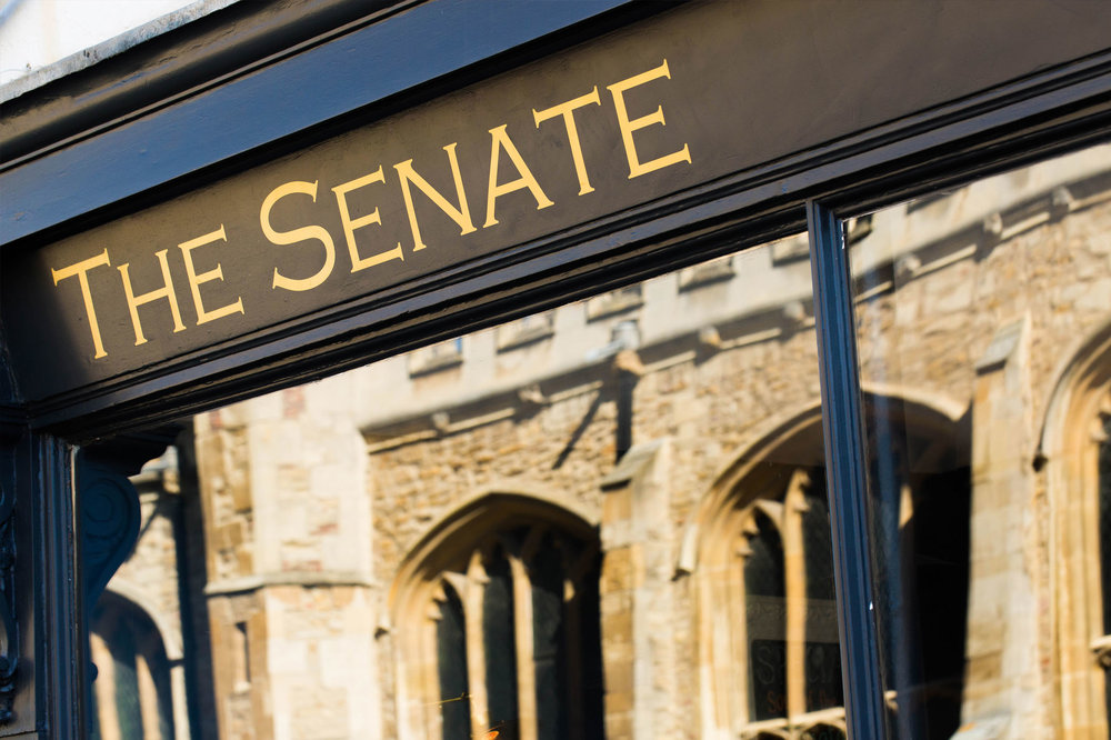 The Senate Bar & Bistro    Great food & a great location, this Cambridge Gem is owned by a great friend of mine who has saved me some cracking bottles, Thanks Oli!