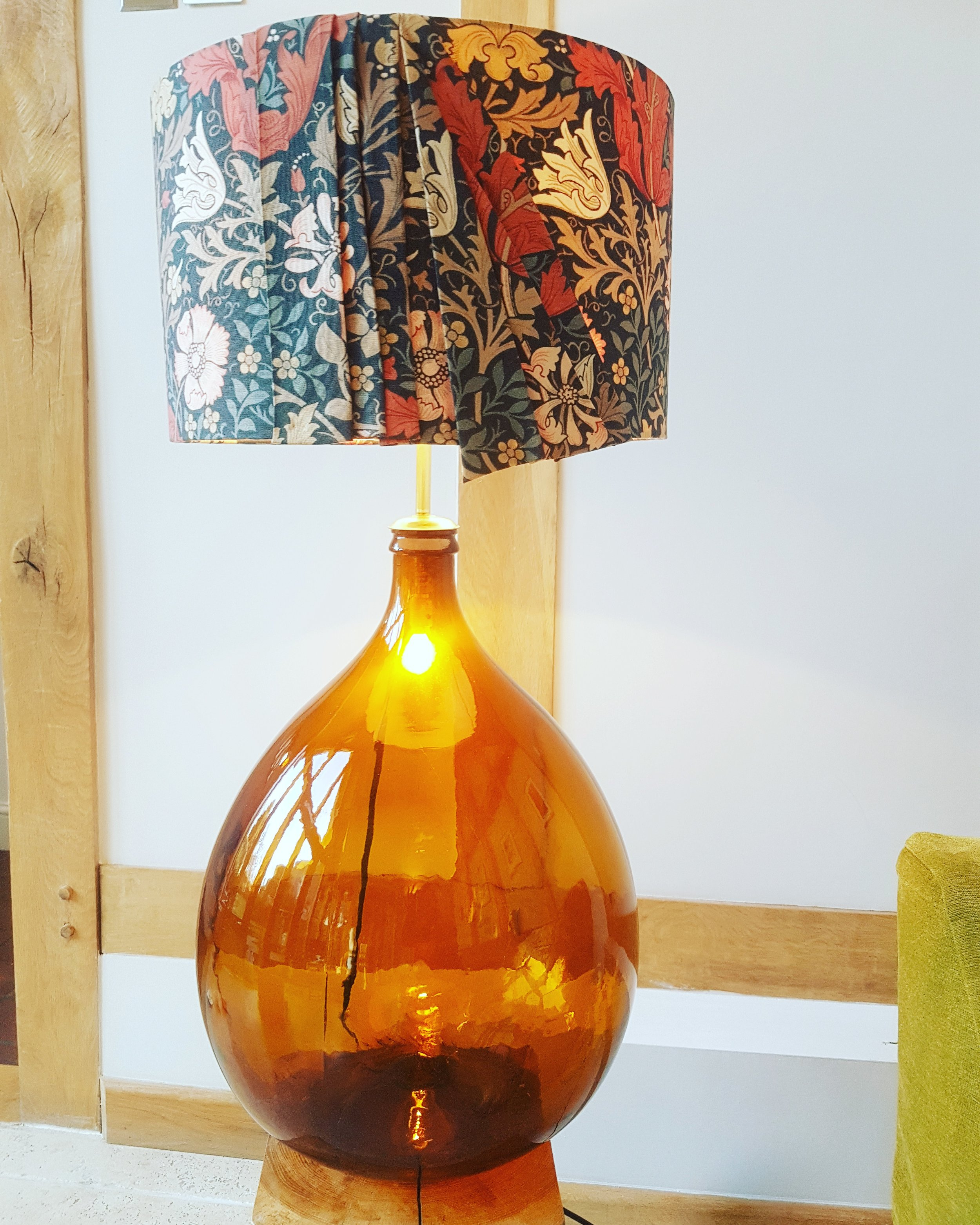 Giant Antique Amber Carbouy Lamp ...