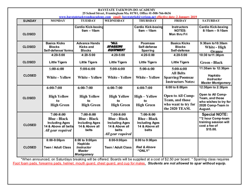 Baystate TKD Schedule  effective  20190107.jpeg