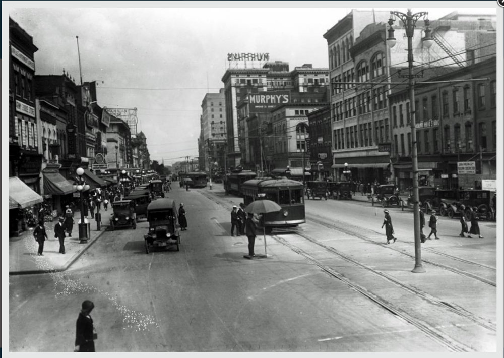 Broad Street looking East, 1924 - Photo from Virginia Museum of History and Culture