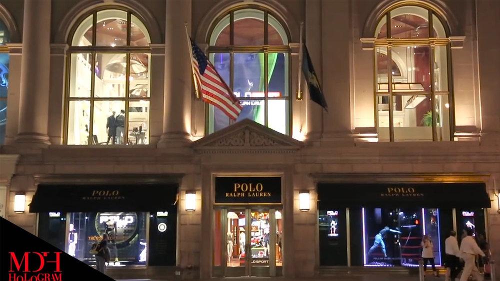 MDH:s hologram för Ralph Laurens flaggskeppsbutik i New York skapade extra mycket uppmärksamhet kring den nya kollektionen och fick trafiken att stanna.