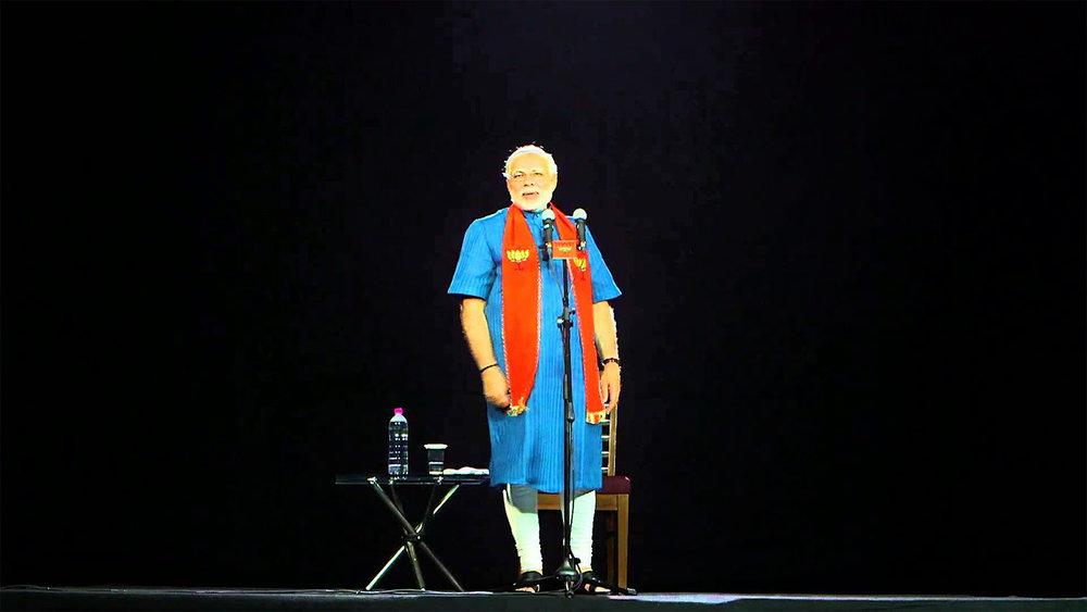 TelePresence blev ett viktigt verktyg i den indiske politikern Narendra Modis valkampanj 2014. Med hjälp av MDH:s teknologi och mobila plattformar kunde han framträda på 126 platser samtidigt och ta hem segern.