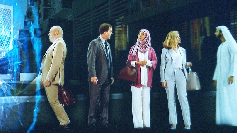 The Villages of South Dubai visade hur bebyggelsen i södra Dubai kommer att se ut i framtiden. Detta visades på den stora mässan på Dubai World Trade Centre 2015 och sträckte sig över 50 meter. Det gick åt tre holografiska displayer och 22 projektorer.