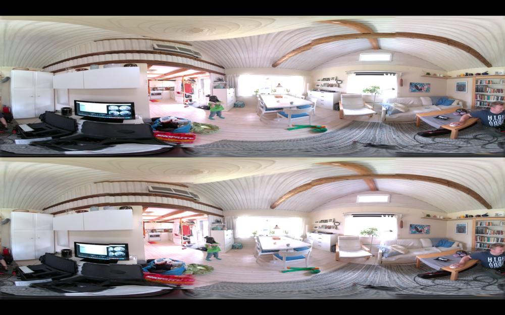 Du kan också få bilden sammanflätad eller se den med VR-glasögon.