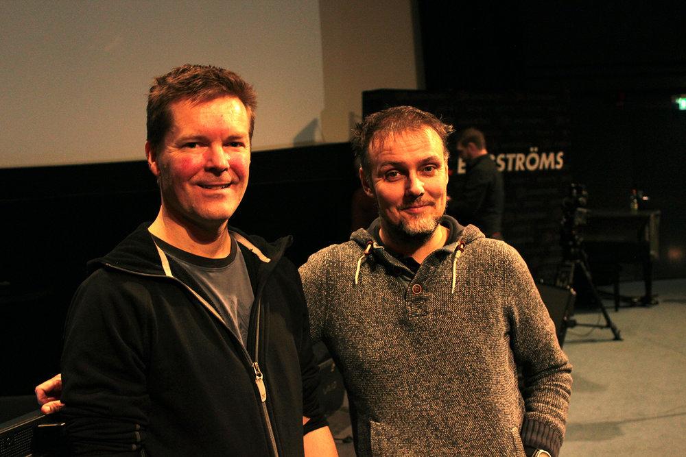 FSF:s Alex Lindén och Michael Kaare Petersen.