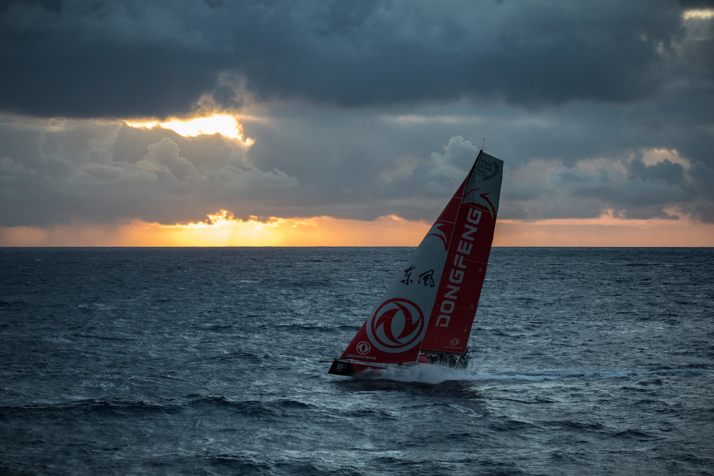 Volvo Ocean Race i full fart. Sådana här bilder gick inte att skapa ombord för bara några år sedan.