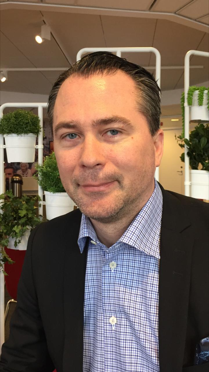 Andreas Foogde, säljare på Sharp.