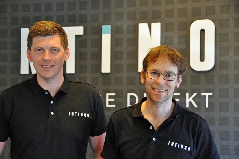 Daniel Lundstedt (t.v.) är Nordic Sales Manager på Intinor och Roland Axelsson är grundare och vd.