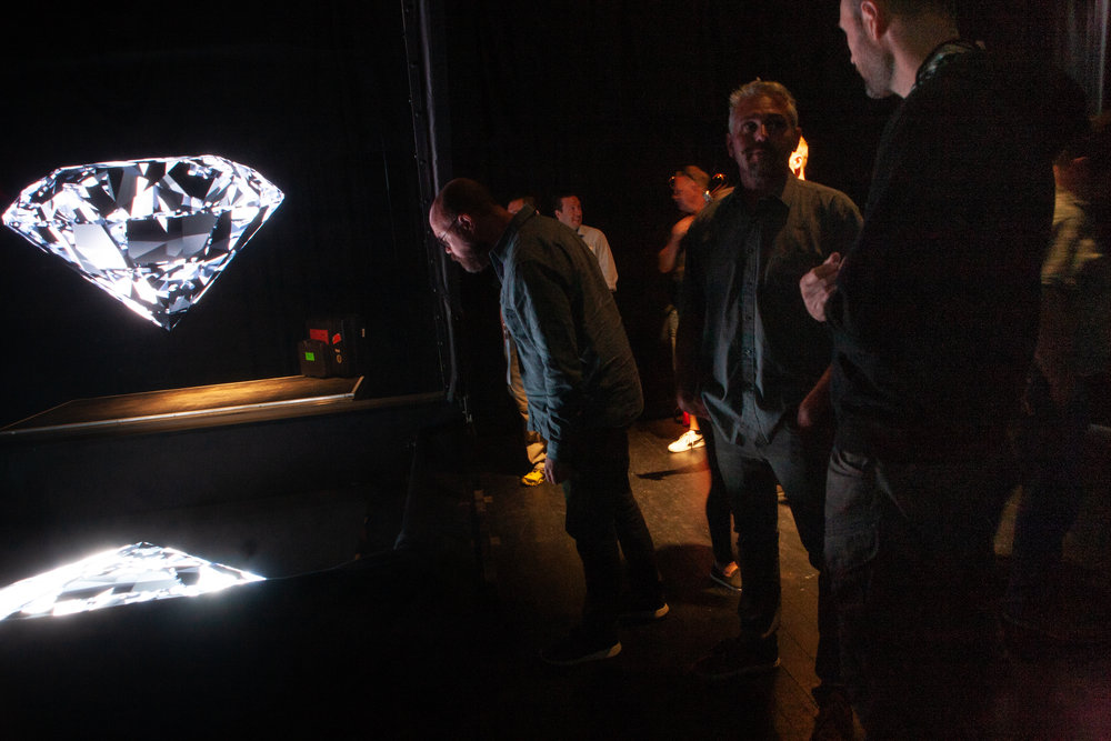 Hologramteknik väckte intresse.
