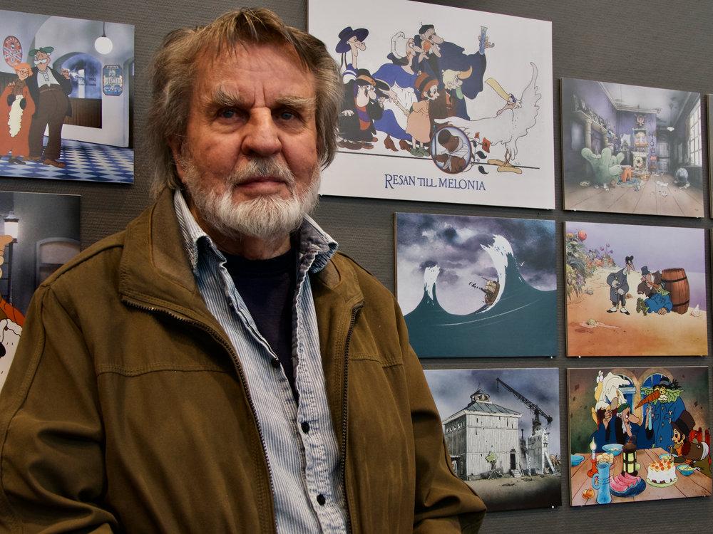 Festivalens hedersgäst Per Åhlin presenterade sina utställda bilder på Konsthallen från olika produktioner under hans yrkeskarriär.