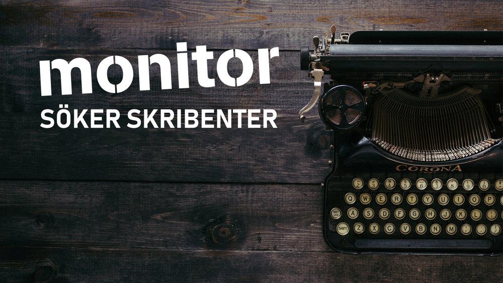 Monitor söker nya skribenter