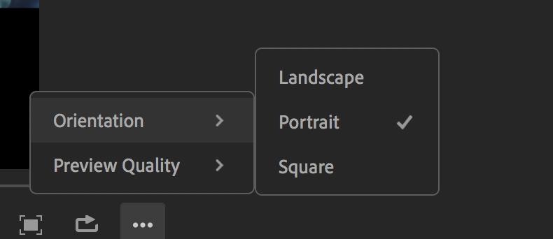 Den färdiga filmen kan enkelt anpassas till de olika formaten Landscape, Portrait och Square.