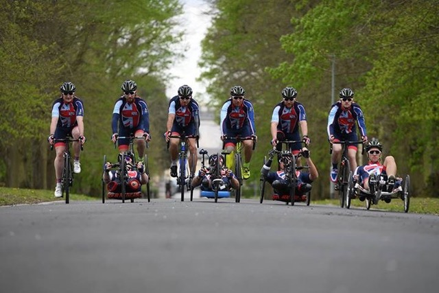 Michael Swain MBE in front with rest of the team.