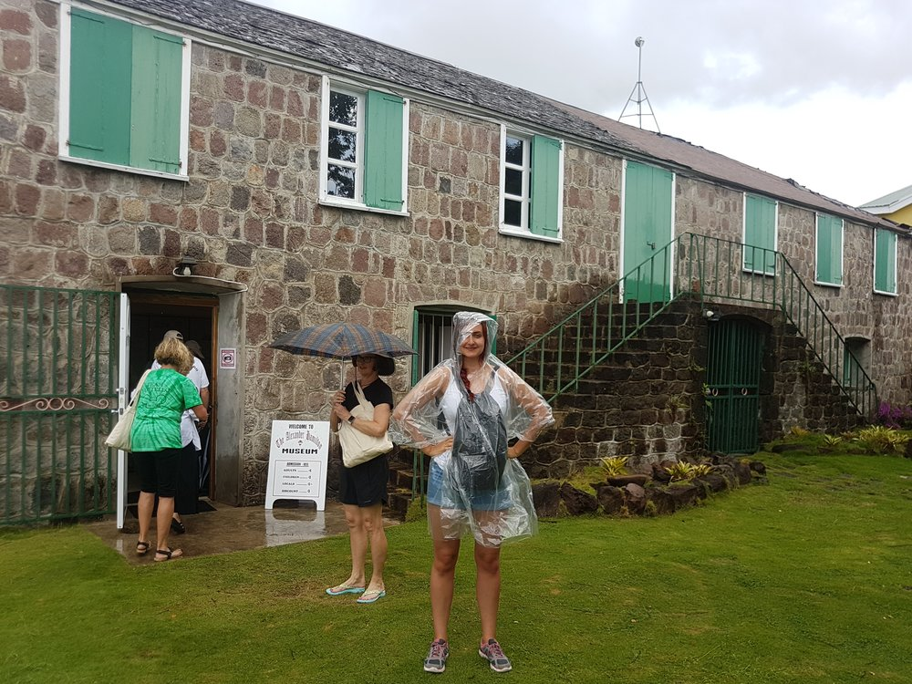Outside Alexander Hamilton's home in Nevis, the Caribbean Island under British rule