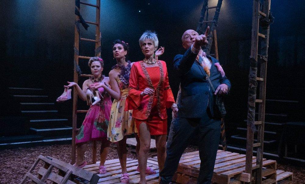 Ugly Step sisters, Evil Stepmother, Cinderella's Princes Steward - (Francesca Pim, Macey Cherrett, Mary Lincoln and David Pendlebury)
