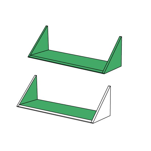 Une étagère toute verte ou l'intérieur seulement, choisissez vos finitions ! - EXEMPLE AVEC LES ÉTAGÈRES UP&DOWN
