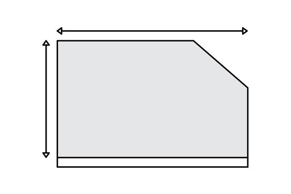 ЅИД СО ЗАКОСУВАЊЕ ИЛИ ГРЕДА  На ѕидот со закосување или греда потребно е да ја измериш повисоката и подолгата страна на ѕидот. Во понудата ќе се смета вкупна површина, а остатокот од фолијата ќе се отсече во печатница или на лице место, во зависност од димензиите. Прати ни ги мерките за да добиеш понуда со цена и предлог од дизајнот во размер од твоите димензии.