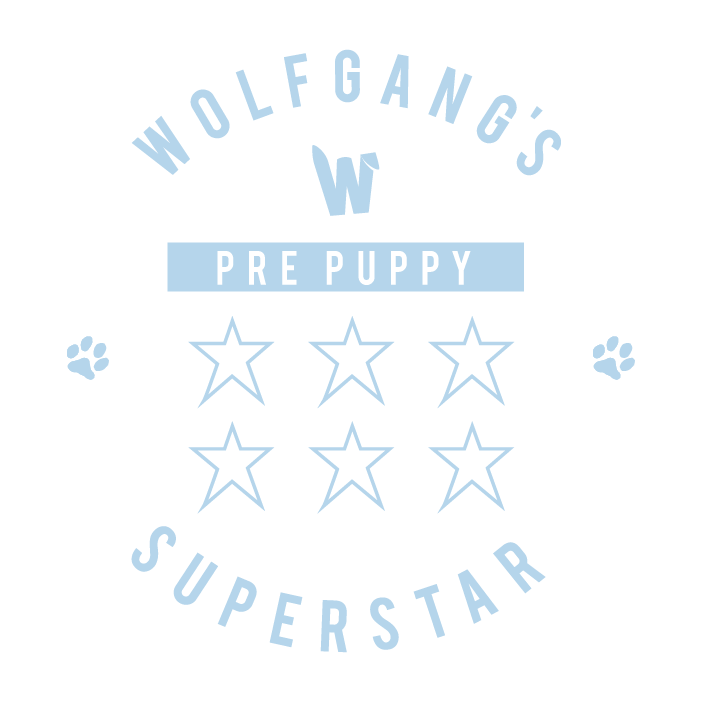 Wolfgang's Pre-Puppy Super Star - 6 sessions - £450 (save £70) - 90mins pre-puppy & 5 x 60 minutes trainingYou've decided to get a puppy and are looking for help to prepare your home and yourself for the arrival of the little angel; then this pack is perfect for you. Before the pup's arrival, I will help you organise your home and talk you through everything you need to make sure your puppy's first days and nights are as calm and happy as possible. We will cover topics including dealing with your puppy's first day, night and week, the journey home from the breeder, feeding advise, house training, your puppy shopping list, vet visits, your dog's body language and communication and much more.Once the puppy's has arrived, we will dive straight into turning your bundle of joy into the Super Star s/he was born to be (as per the Super Star pack)..