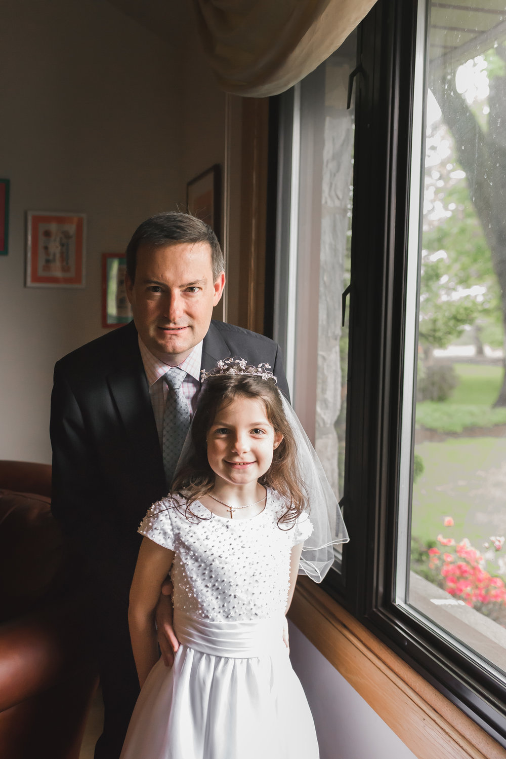 first communion portrait session in montgomery county