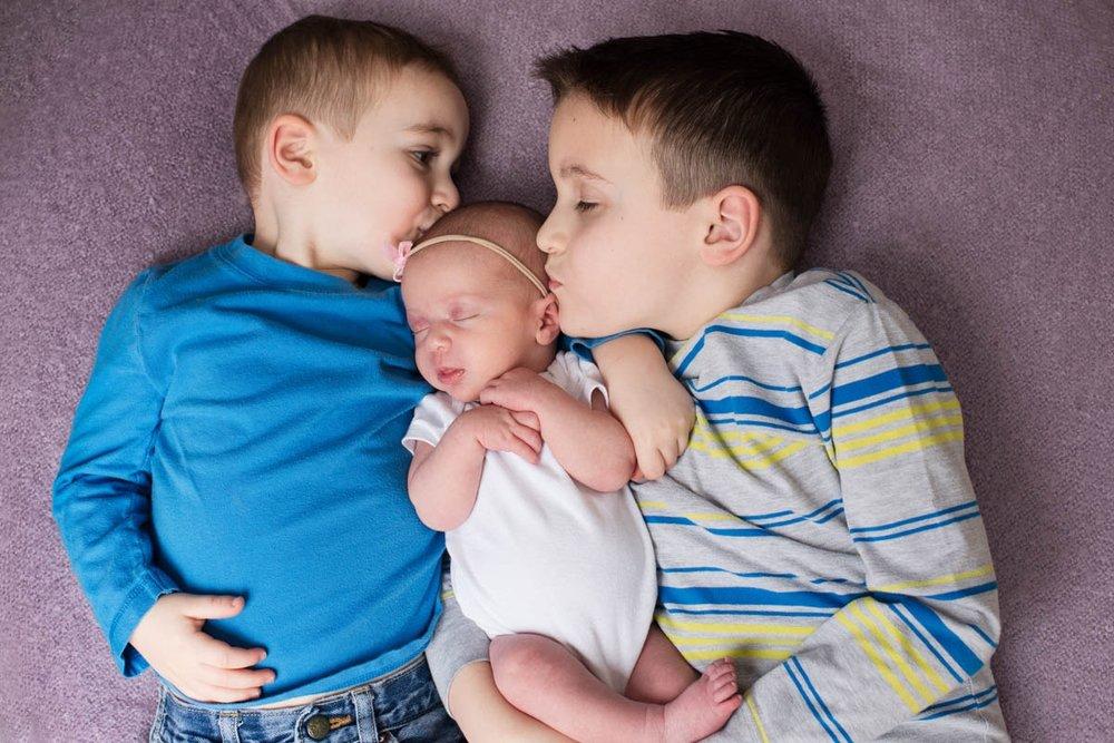 siblings Montgomery county newborn photographer