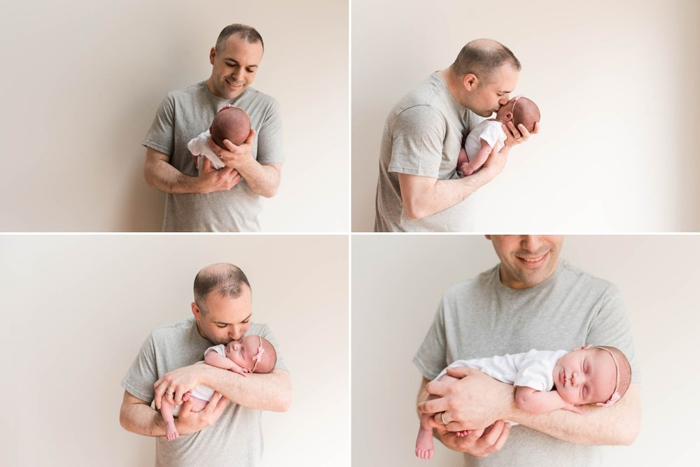 dad and baby Montgomery county newborn photographer
