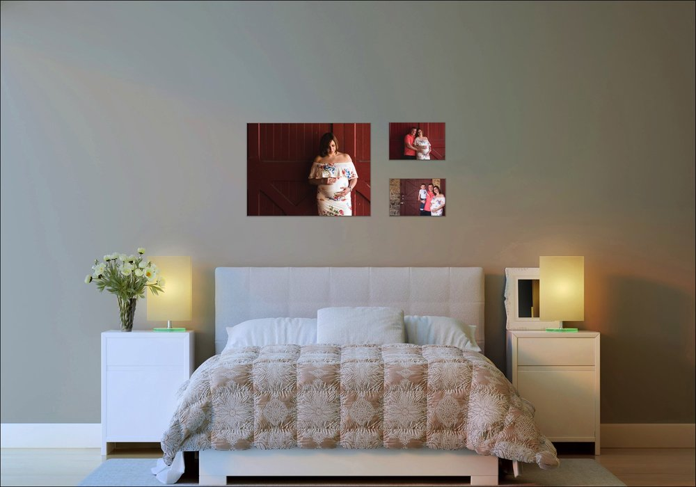 maternity session wall display idea