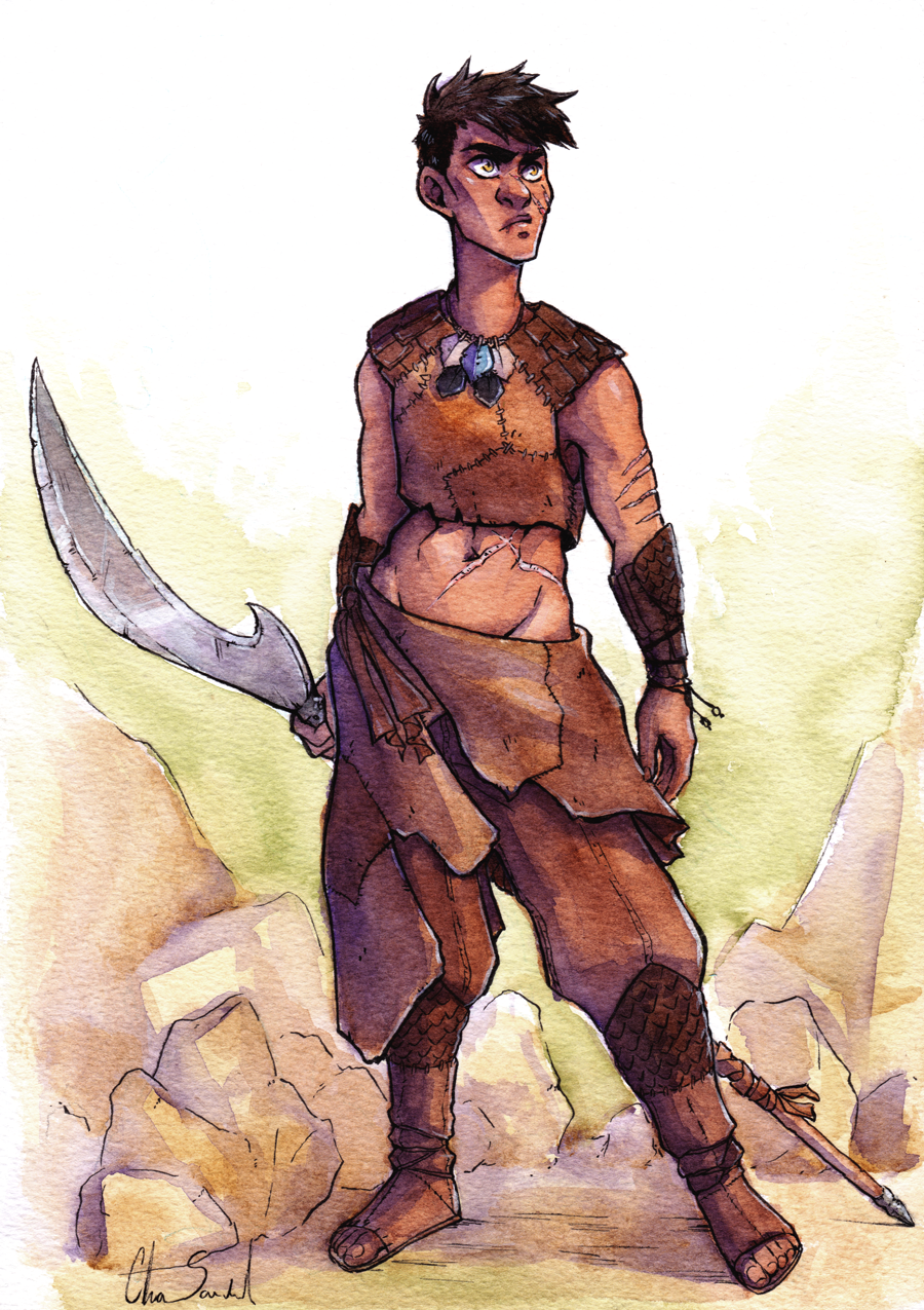 Traditional Watercolor: full body