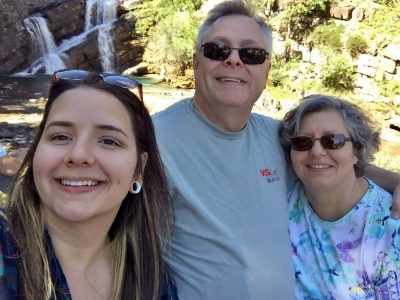Roxanne & Michael with daughter at Waterton Lakes National Park