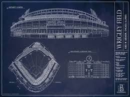 Ballpark Blueprints   Print  or  Print with Frame