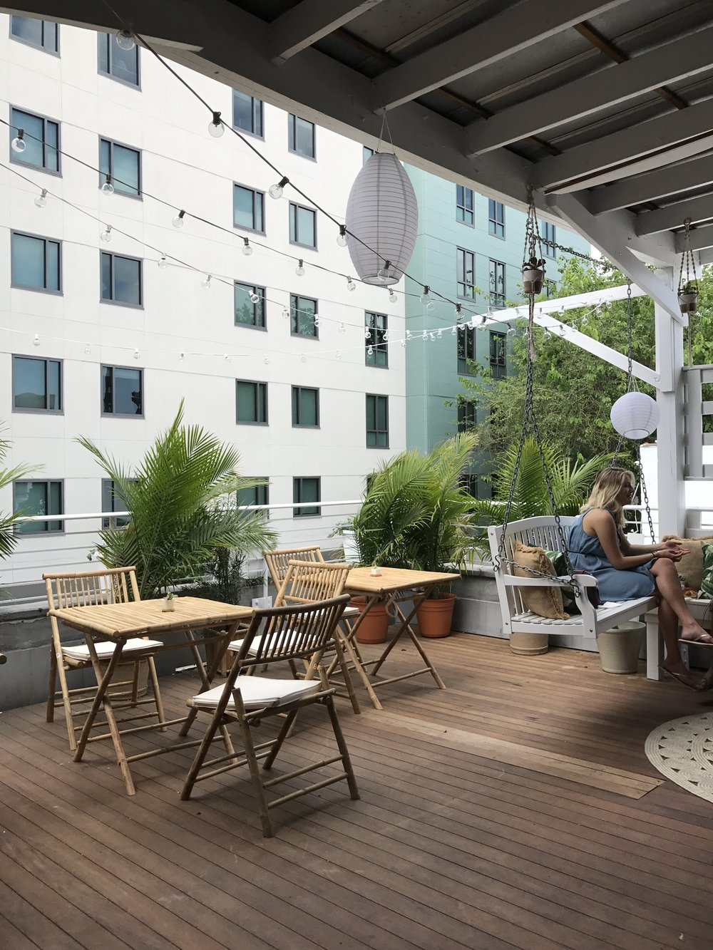The Skinny Dip rooftop, try the Frozen Rosé