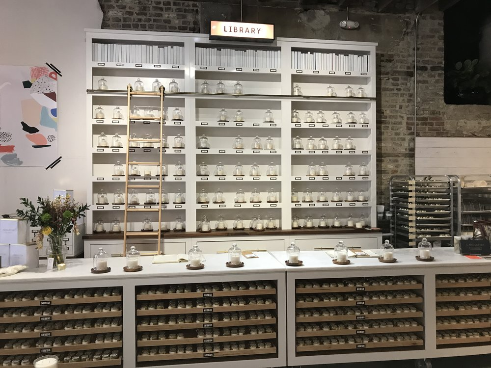 Candlefish offers candle making classes... with wine!