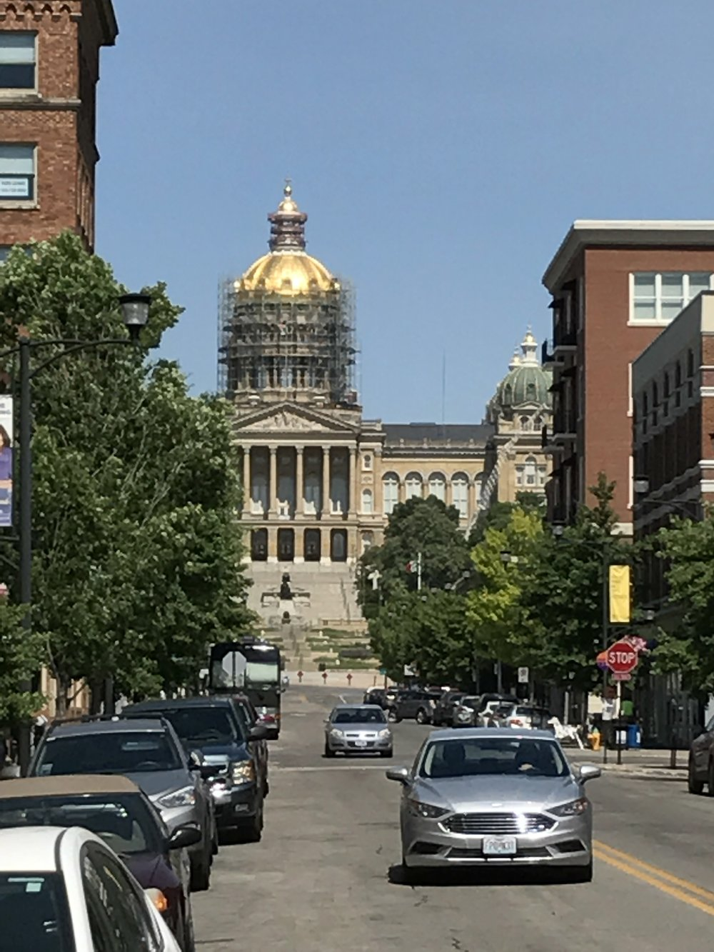 East Village view of the Capitol building