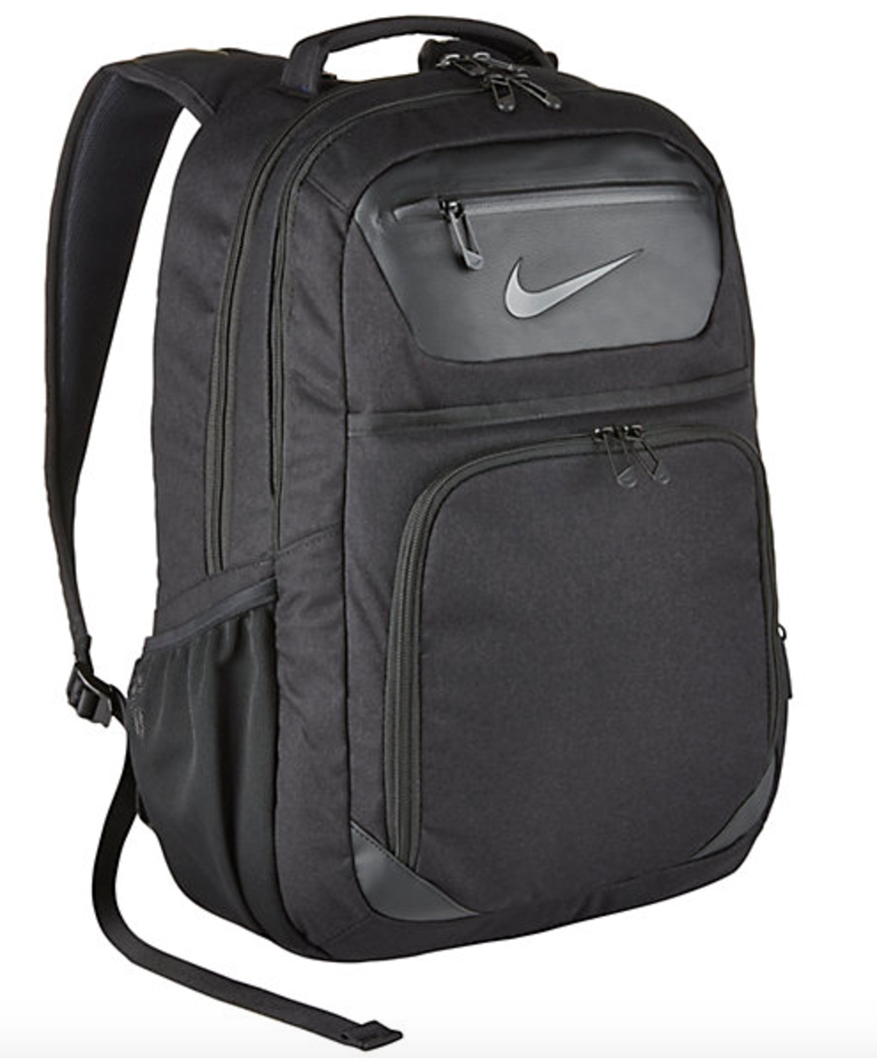 Nike Backpack - Whenever I travel, a good backpack is key. I've had many over the course of the years but have found this one to be extremely reliable. Two drink pockets (a perk for me and my need for both coffee and water), an isolated and easy to access laptop pocket, a small front pocket for keys or headphones or smaller items, and plenty of room elsewhere. I like the all black color as well.