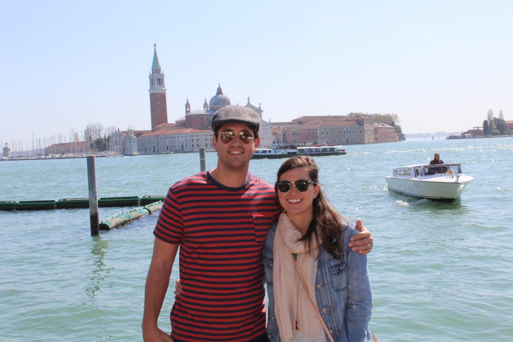 Posing in front of the island of San Giorgio Maggiore. I recommend taking the ferry over and exploring the gorgeous church as well as the library at the Cini Foundation.