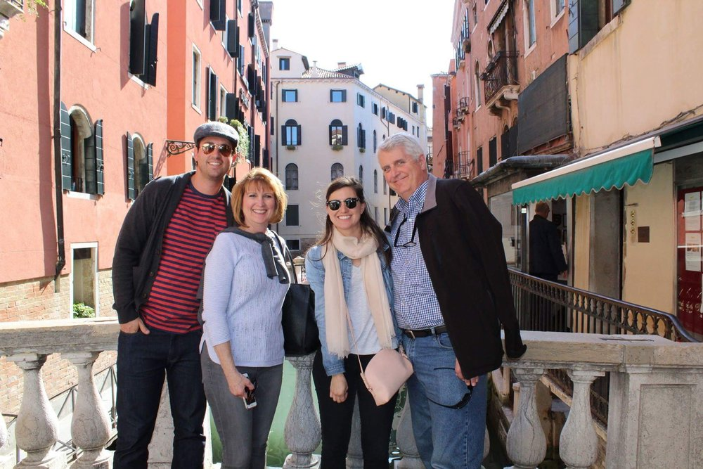 The Newcom Family in Venice!
