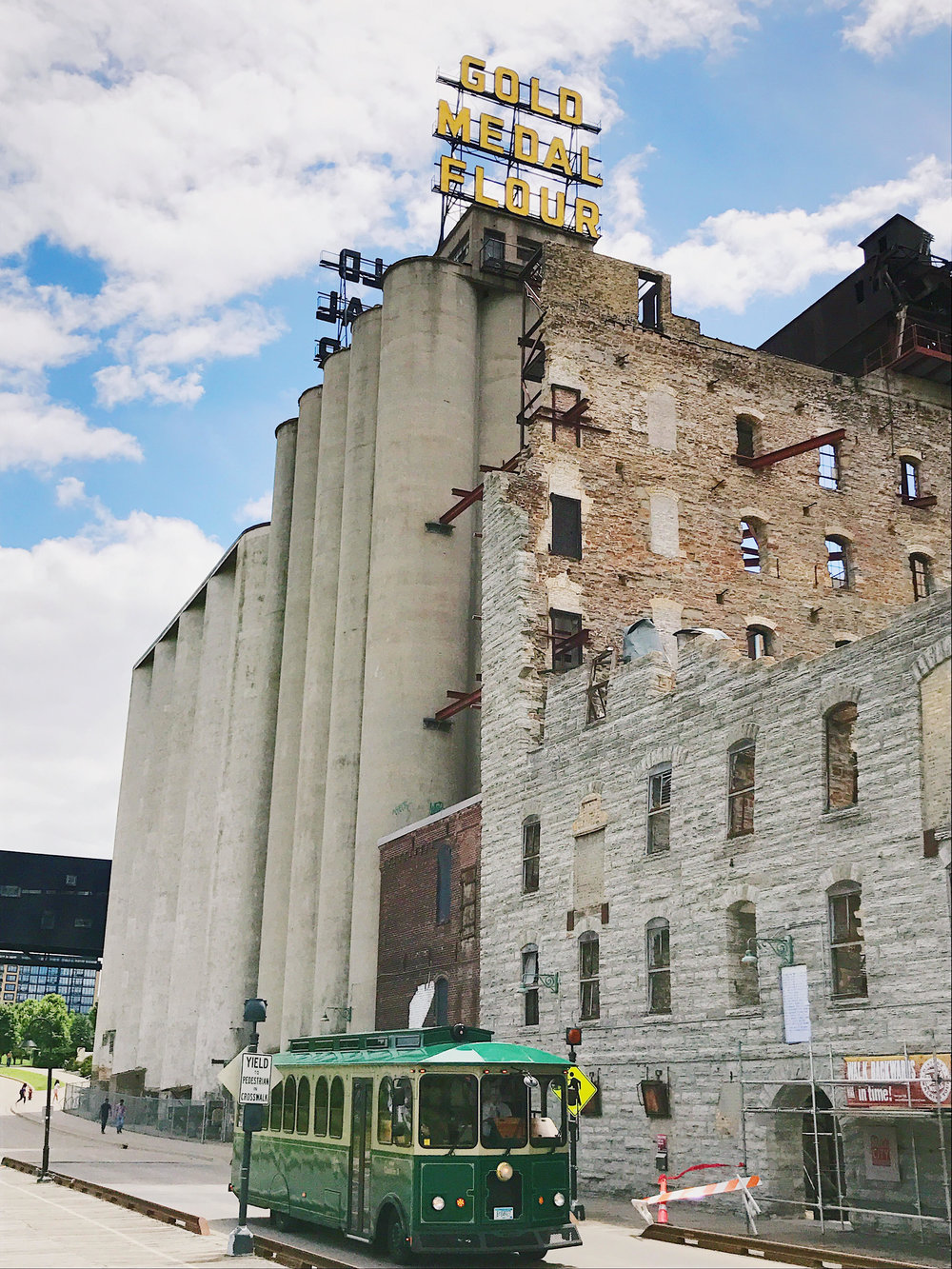 The old Washburn A Mill, now site of the Mill City Museum