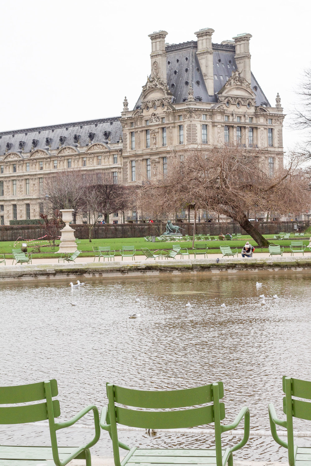 Tuileries  Gardens outside of the Louvre