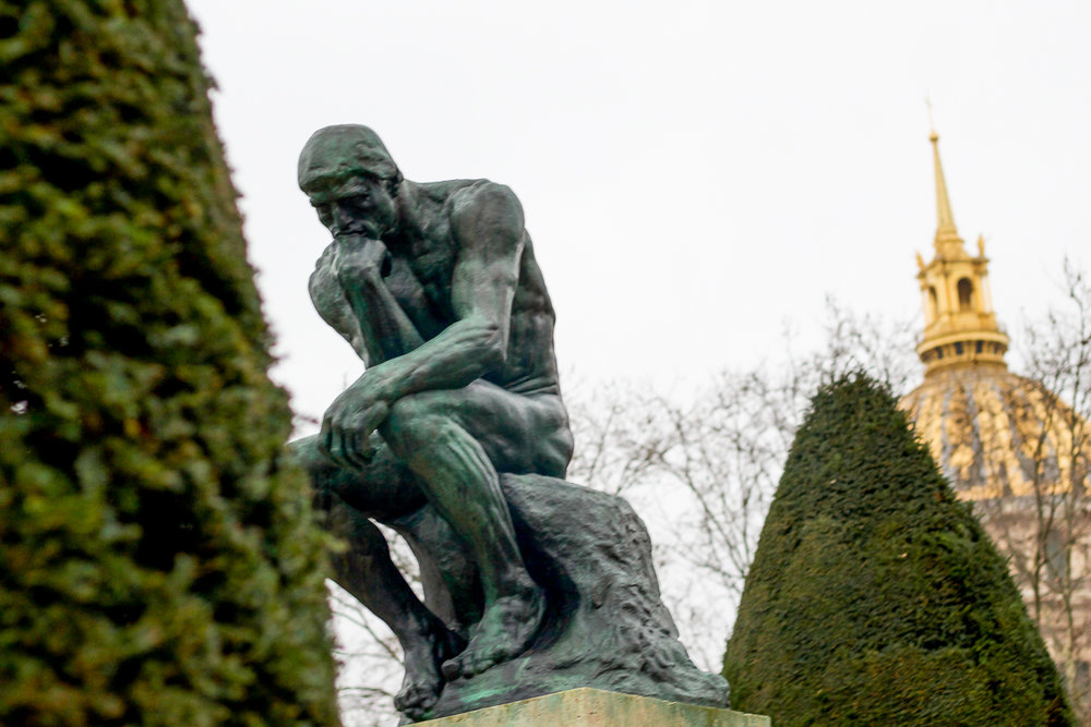 """""""The Thinker"""" at the Rodin Museum"""