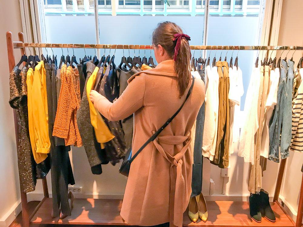 Shopping at Sezane