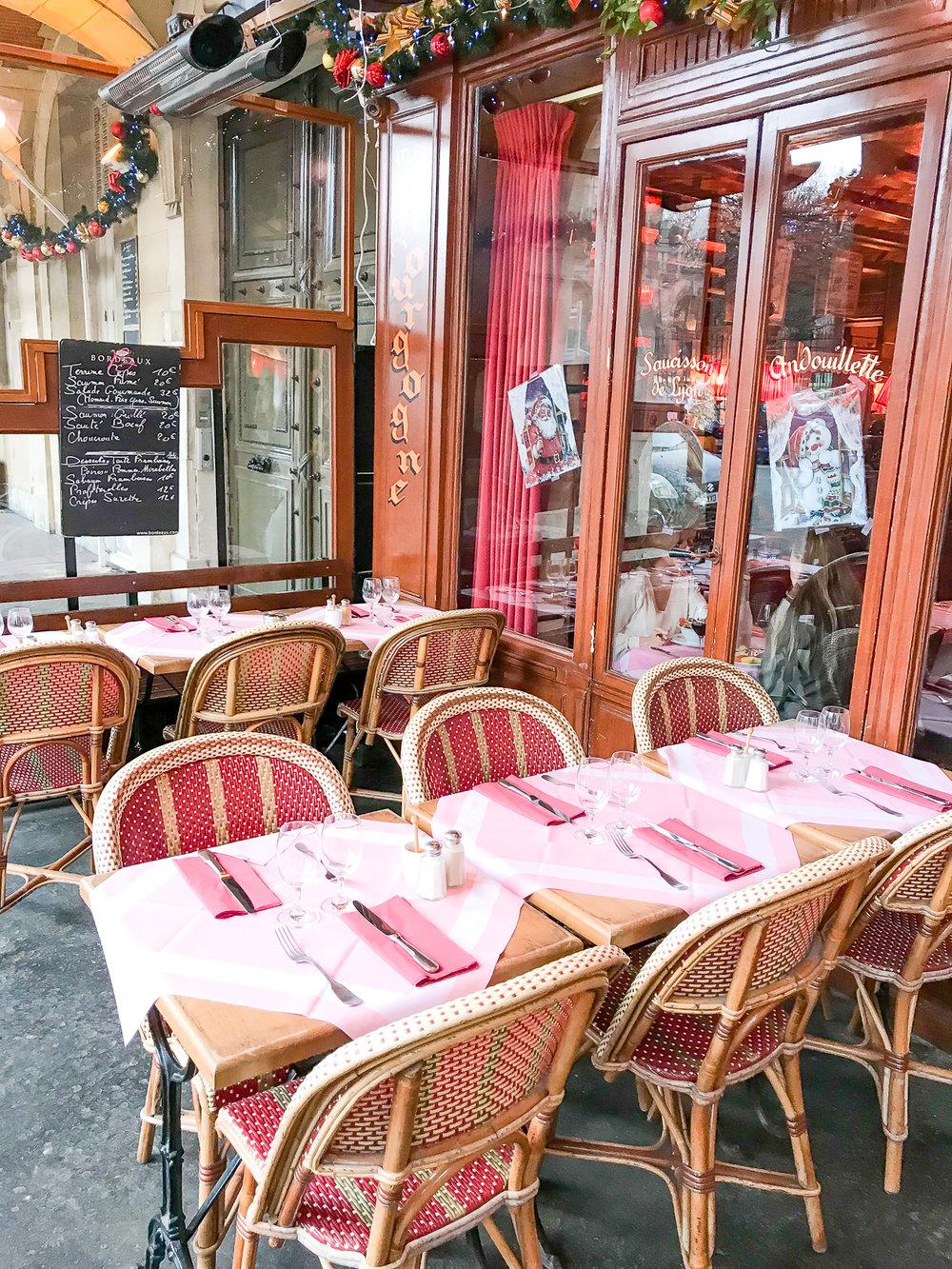 Cafe in Place des Vosges
