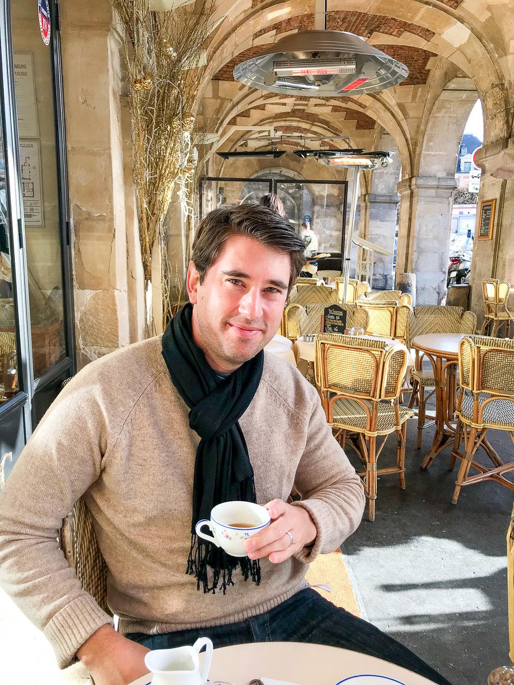 Tea time at Carette in Place des Vosges