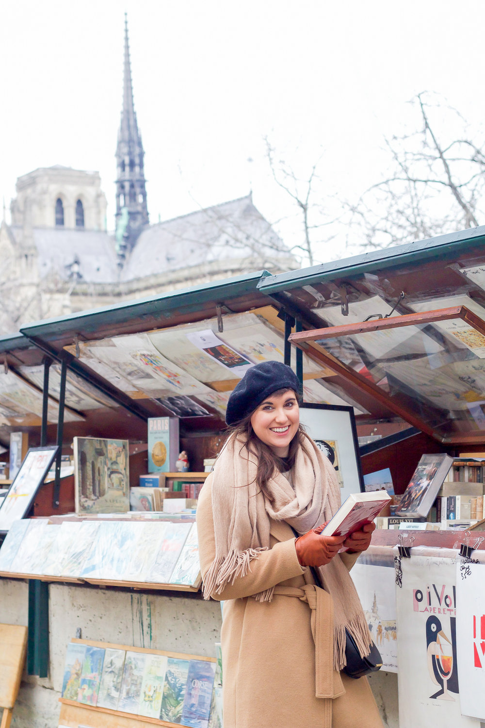 Love the rows of book stands along the Seine by Notre Dame (in the background)