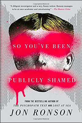 So You've Been Publicly Shamed - This book is really fascinating and thought-provoking. It centers around the phenomenon of public shaming on the internet. Ronson interviews practitioners of the shaming and the (debatable)