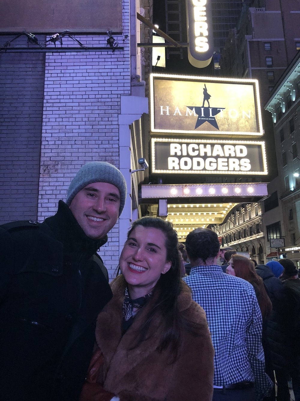 Hamilton! Clearly, I'm thrilled! Austin was very sick that night but he rallied!